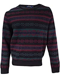 Mens Wool Pattern Pullover Sweater