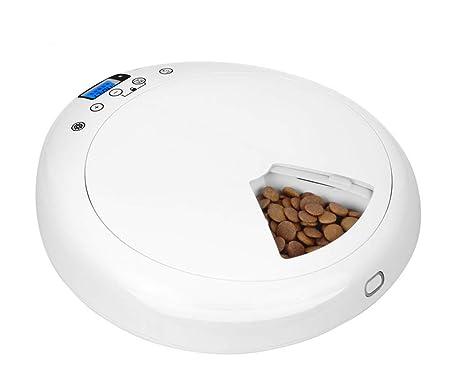 Zll Alimentador automático de Mascotas dispensador de Alimentos 6 ...