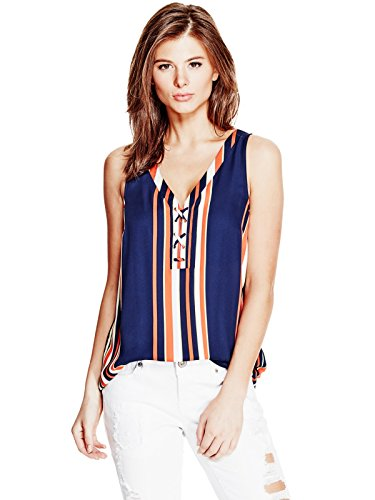 guess-factory-womens-amada-lace-up-top