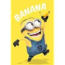 Bundle - 2 Items - Despicable me Minions Banana Poster - 91.5 x 61cms (36 x 24 Inches) and a Set of 4 Repositionable Adhesive Pads For Easy Wall Fixing