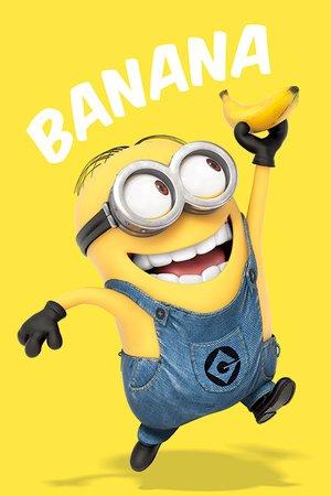 amazon com despicable me minions banana poster 91 5 x 61cms 36 x