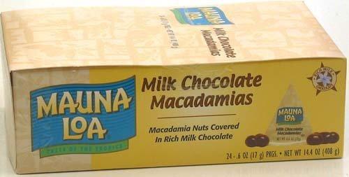 Mauna Loa Milk Chocolate Macadamia Nuts, 0.6-Ounce Triangle Pack (Pack Of 24)