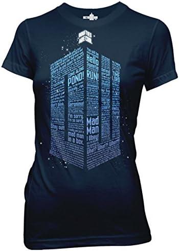 Ripple Junction Doctor Who Logo of Words Junior's T-Shirt