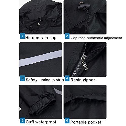Lavoro Donne Asporto Rain Uomini Spessore Da Pants ImpermeabilesizeXxl Geyao Set Assicurazione Auto E Split Elettrica Raincoat Adulto Doppio Moto PkwXTZOiu