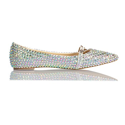 Chaussures Flat Pump Bling On Lacitena Casual Shoes Slip Mesdames PqxXWUv