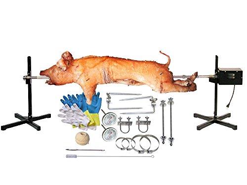 Pig, Hog, Spit Roast Rotisserie Kit, Commercial Grade, 120 Watt Motor, Up To 125lbs - SpitJack XB125 by SpitJack