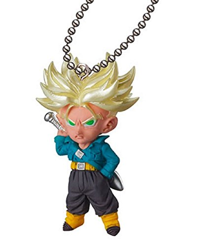 Dragon Ball Kai~UDM The Burst 08~Mascot Figure Swing Keychain~S.s Trunks by Takara Tomy