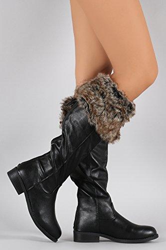 Fourever Funky, Damen Stiefel & Stiefeletten , Schwarz - schwarz - Größe: 39 EU (M)