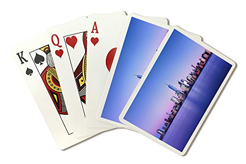 New York City, New York - Skyline with One World Trade Center - Photography A-91963 (Playing Card Deck - 52 Card Poker Size with Jokers) (New York Skyline One World Trade Center)