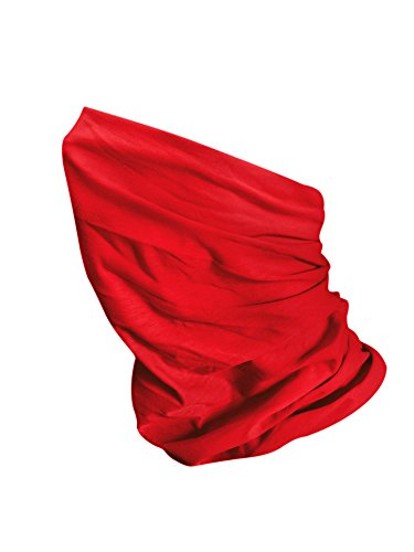 MKR Motorcycle Motorbike Cycling Lightweight Neck Warmer Tube Balaclava Scarf Snood - Bright Red 06