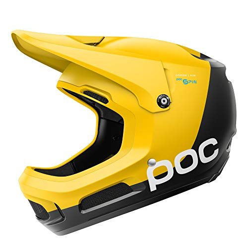POC Coron Air Spin, Helmet for Downhill Mountain Biking, Sulphite Yellow, MLG