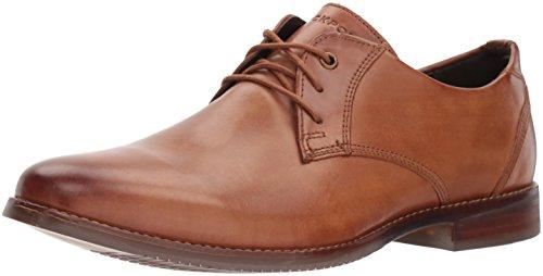 Rockport Men's Style Purpose Blucher Shoe, cognac leather, 8.5 M US
