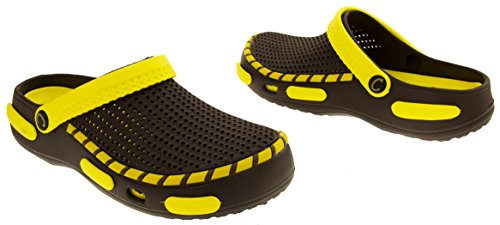 Coolers Mens Beach Clog Sandals Yellow 11 D(M) US by Coolers (Image #5)