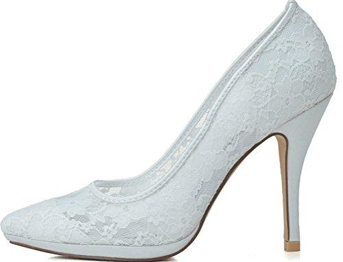 Femme Compensées EU CFP Blanc 5 Sandales Blanc 36 wZqT8E