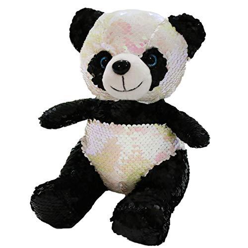 - Athoinsu Flip Sequin Panda Stuffed Animal Sparkle Soft Plush Toys with Magic Reversible Glitter Sequins Creative Birthday for Kids Friends, 8''