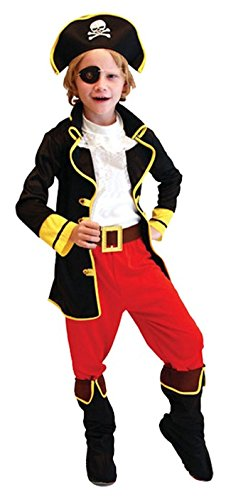 Cohaco Boy's Sea Captain Pirate Role Play Costume (XL (Height 51.2