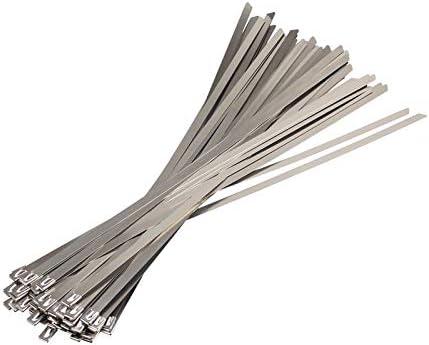 Nologo Zip Cable De Acero Inoxidable de Metal 10PCS 304Material de uniones de Cable de Alambre plastificado Wrap Tubo de Escape de Calor Correas de inducción Barco Lazo LPLHJD