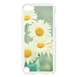 Custom Colorful Case for Ipod Touch 5, Daisies Cover Case - HL-R652937