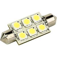 LUNASEA LIGHTING Lunasea Single-Sided 6 LED Festoon - 10-30VDC/1.5W/97 Lumens - Warm White / LLB-186W-21-00 /