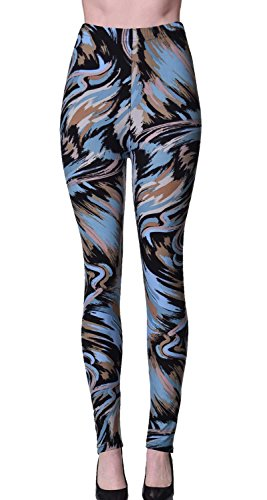 - VIV Collection Plus Size Printed Leggings (Paintbrushed)