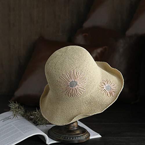 Solar Pescador De Beige Aire Mujer Protector Slh Verano Sol Gorra Plegable Al Sombrero Libre pgvBwq6Z