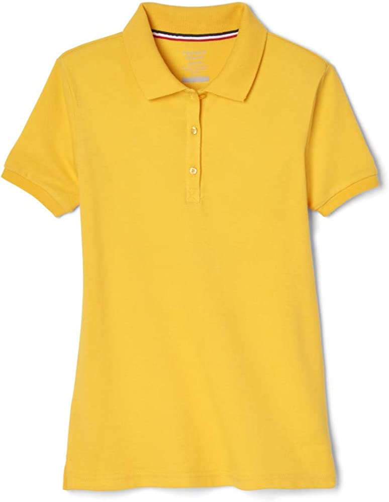 French Toast Girls' Short Sleeve Stretch Pique Polo: Clothing