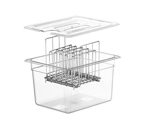 LIPAVI Sous Vide Rack-Model L10- Marine Quality 316L Stainless Steel-Square 7.8 x 6.4 Inch-Adjustable, Collapsible,Ensures even and Quick warming with Sous Vide Cooking - Fits LIPAVI C10 Container by LIPAVI (Image #5)
