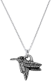 product image for Danforth - Hummingbird Mini Necklace - Pewter Pendant - Handcrafted - 17 Inch Chain - Made in USA