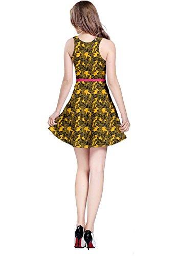 CowCow - Vestido - para mujer Black Yellow