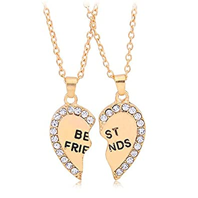 Bling n beads gold metal best friends pendant necklace set for boy bling n beads gold metal best friends pendant necklace set for boy girl men mozeypictures Choice Image