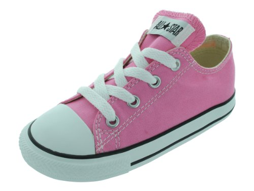 Converse Kids' Chuck Taylor All Star Canvas Low Top Sneaker, Pink, 10 M US Toddler