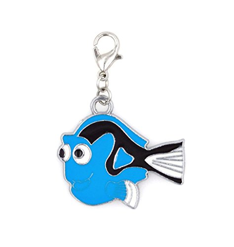 2-pc-set-stainless-steel-starter-charm-bracelet-and-clip-on-charm-blue-dori-fish-75-95-adjustable-br