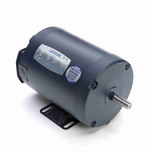 Leeson Electric 110143.00 - General Purpose Motor - 3 ph, 1/2 hp, 3600 rpm, 208-230/460 V, 56 Frame, Totally Enclosed Non Ventilated Enclosure, 60 Hz, Rigid base Mount ()