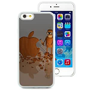 New Beautiful Custom Designed Cover Case For iPhone 6 4.7 Inch TPU With Wood Apple Sculpture (2) Phone Case WANGJIANG LIMING