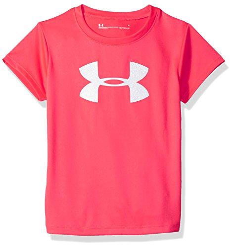 Under Armour Girls' Big Logo T-Shirt, Hot Pink, - Logo 5 T-shirt