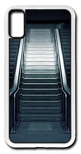 iPhone X Case Escalator Metro Stairs Subway Urban Station Customizable by TYD Designs in White Plastic