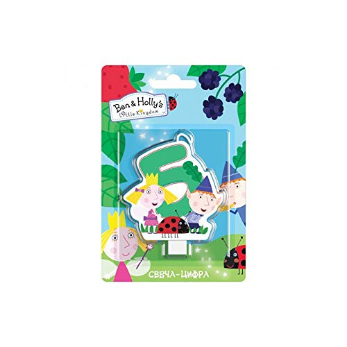 Ben & Holly's Little Kingdom Сandle on a Cake Topper 5 Years Must Have Accessories for the Party Supplies and Birthday ()