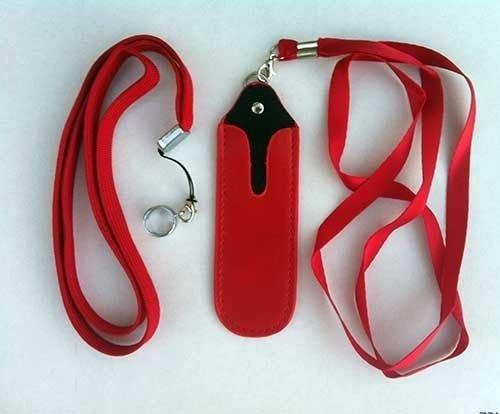 JoMobile EGO Necklace Lanyard with Faux Leather Pouch for eGo-t,eGo-w,eGo-c eGo-F , eGo Twist, eCig- - Mail Day Usps Next