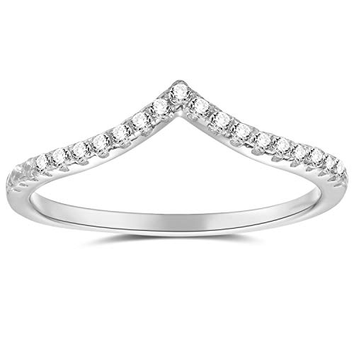 espere Womens Sterling Silver Eternity Band with AAA CZ 18K Plating Weddings Bands 1.8mm Width ()