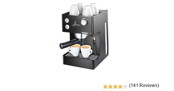 Saeco - Cafetera Espresso Aromanero Ri937311 Manual, 15 Bares,Deposito Agua 2,5L, Tubo Vapor Plastico, Calienta Tazas. Negro.: Amazon.es: Hogar