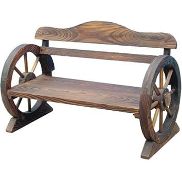 Fine Burnt Char Wood Garden Wooden Flower Bench Outdoor Park Patio Conservatory Cart Wagon Wheel Cartwheel Style New Uwap Interior Chair Design Uwaporg
