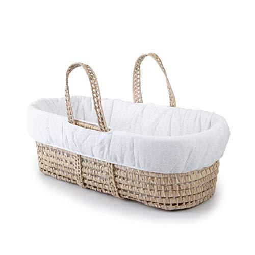 Image of the Tadpoles Moses Basket & Bedding Set, Eyelet, White, One-Size