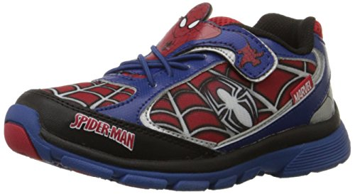 Stride Rite Ultimate Spider-Man Light-Up Sneaker (Toddler/Little Kid),Blue/Red,6.5 M US Toddler