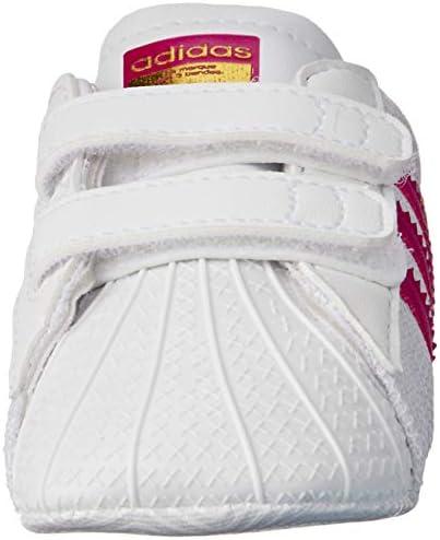 adidas Baby Girls' Superstar Crib Shoes, Footwear WhiteBold