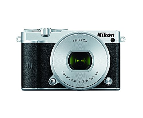 Nikon-1-J5-Mirrorless-Digital-Camera-w-10-30mm-PD-ZOOM-Lens-Silver-International-Model-No-Warranty