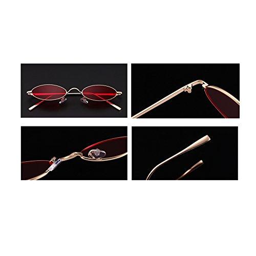 YefreeCapsule soleil étroites soleil C1 ovales de lunettes rétros en unisexes de lunettes forme de rxHqAr