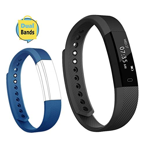 Toobur Activity Tracker, Slim Waterproof Fitness Tracker Watch with Pedometer Calories and Sleep Monitor, Step Counter Wristband Smart Watch for Kids Women Men (Best Step Tracker App)