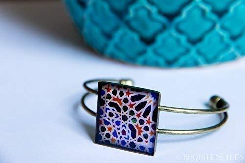 Pulsera Alhambra - Mosaico Azul - Cerámica Colores ...