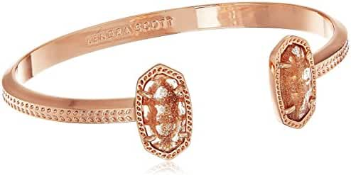 Kendra Scott Signature Elton Rose Gold Dusted Glass Cuff Bracelet
