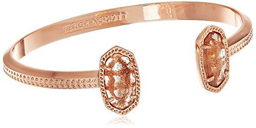 Price comparison product image Kendra Scott Signature Elton Rose Gold Dusted Glass Cuff Bracelet